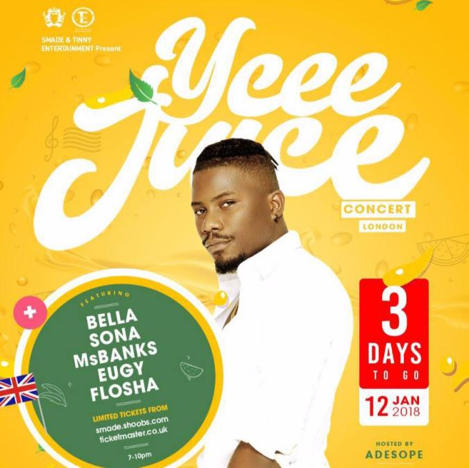 YCEE Juice Concert 12th Jan 2018